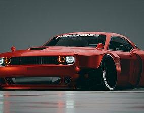 Dodge Challenger Hellcat quad turbo 3D model