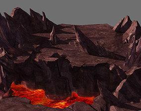 Game Model - Volcano Cliff ruins