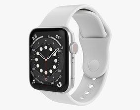Apple Watch Series 6 silicone loop silver 3D model