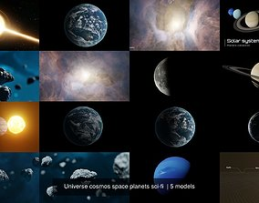 Universe cosmos space planets sci-fi 3D earth
