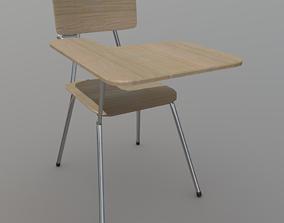 3D model game-ready PBR School Desk
