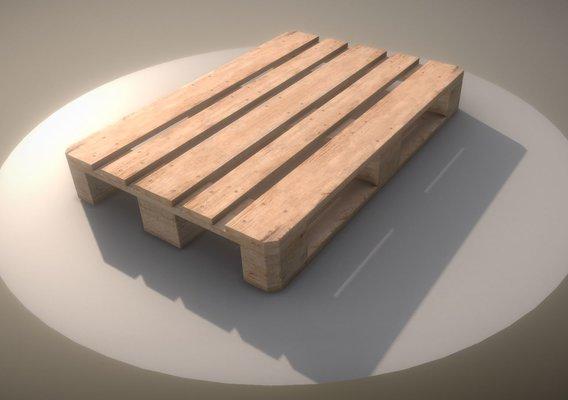 EUR Wood Pallet  High-Poly Version