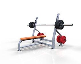 3D model Flat bench press machine
