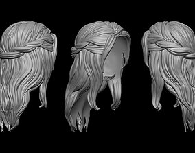 sculptures 3D print model hairstyle