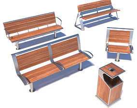 3D Street benches