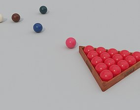 3D asset Snooker Balls And Triangle