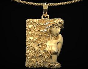 Modern pendant with a mermaid girl 482 3D printable model