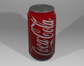 3D model low-poly Coke can empty