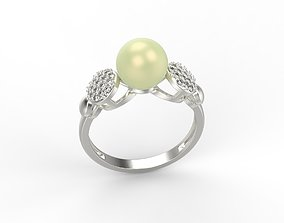 Women ring with pearl and diamonds US sizes 6 7 8 9 10 1