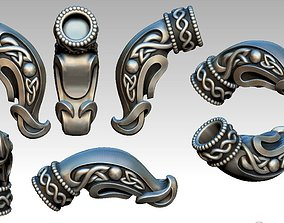 Celtic Dragon Head Jewelry 3D print model