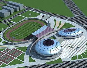 3D model Soccer Stadium 004