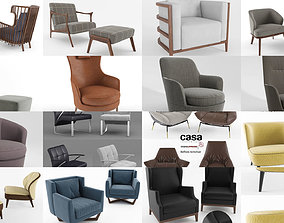 3D Realistic Armchair Collection