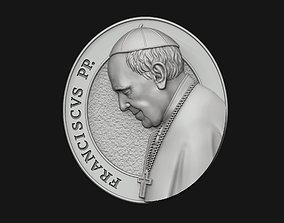 Pope Francis Medallion 3D print model