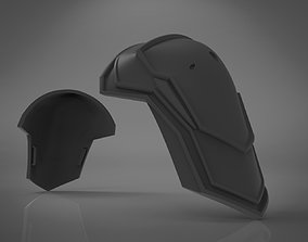 3D print model Black Widow Black Shoulder Armor