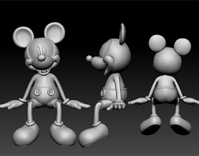 3D print model mickey seated