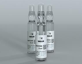 Glass ampoule vaccine icu 3D model