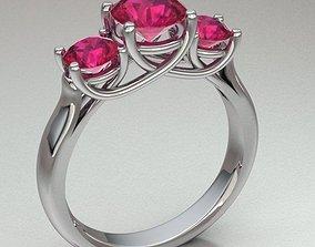 solitary ring women weddingring 3D printable model