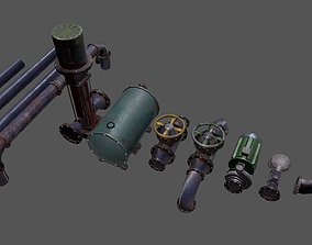 Modular Industrial Pipes 3D asset realtime