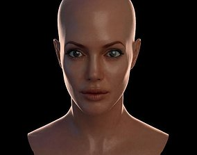 3d model Angelina Jolie low-poly