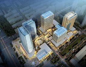 3D Skyscraper business building 007
