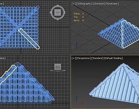3D model Middle eastern Brick Roof