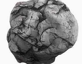 3D model VR / AR ready universe Meteor Asteroid Rock 4K
