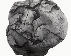 Meteor Asteroid Rock 4K 3D model game-ready