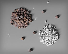 3D Grains of Salt and Pepper