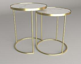 Zara Home ART 8075072 TABLES WITH GOLDEN FRAME 3D
