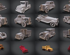 3D Wooden Car Collection