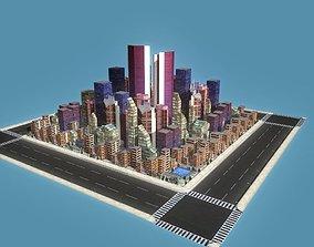 3D model Sci-Fi City Block