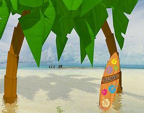 SurfBoard 3D model