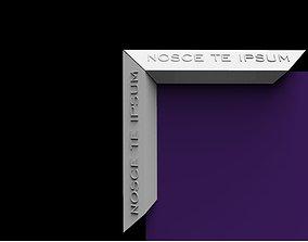 3D printable model Mirror frame with inscription NOSCE 1