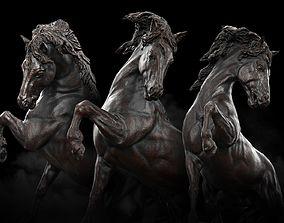 VR / AR ready Horse Statue 3D Model PBR