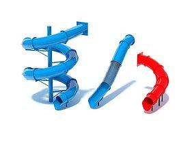Water Slides 3D model