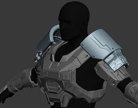 Reach Commando Shoulder Wearable 3D Print Model
