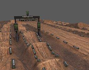 3D asset Motocross Track