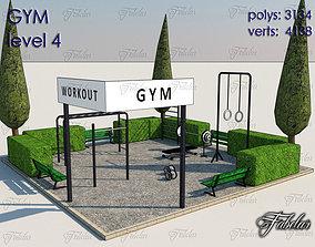 3D model VR / AR ready Gym Level