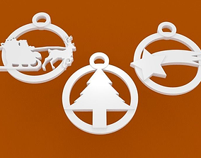 Tris of Christmas tree decorations and not onlystl file 1