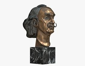 3D model Salvador Dali Bust v2