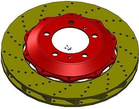 Brembo Rotor and Hat 3D model