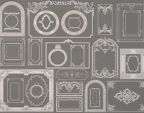 3D Boiserie Decorations - 30 pieces