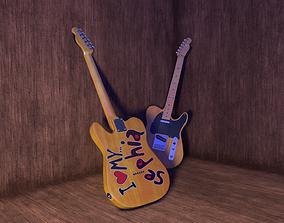 3D model Electric Guitar Eross Chandra Telecaster
