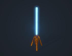3D asset Sci fi Light