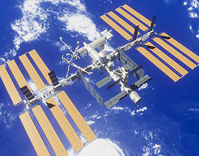 3D model PBR Game Ready ISS Space Station