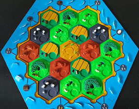 Complete Tile set 3D Catan Board Game