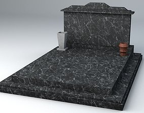 3D model Large Marble Grave Lowpoly game Ready