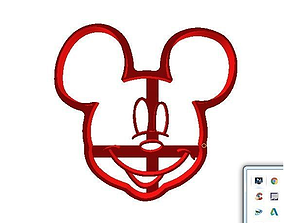 3D printable model Cookie cutter Mickey Mouse