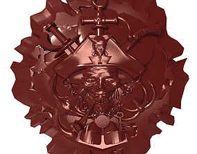 3D printable model Pirate skull Bas relief for CNC
