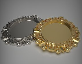 cameo Blank pendant tray 3D printable model